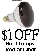 $1 off Heat Lamps