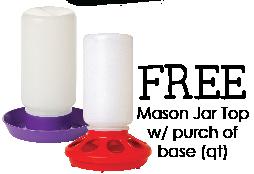 Free Mason Jar with Base