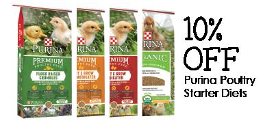 10% off Purina Chick Starter