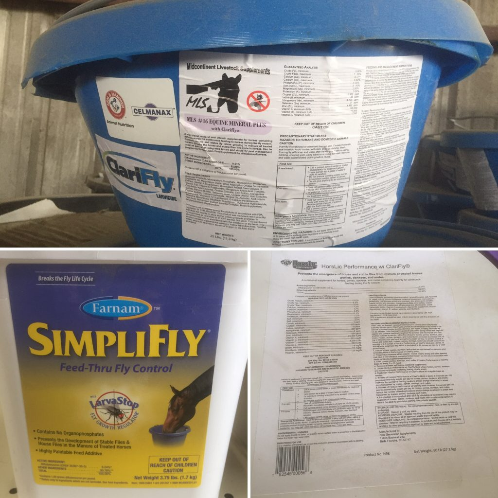 equine feed through fly control