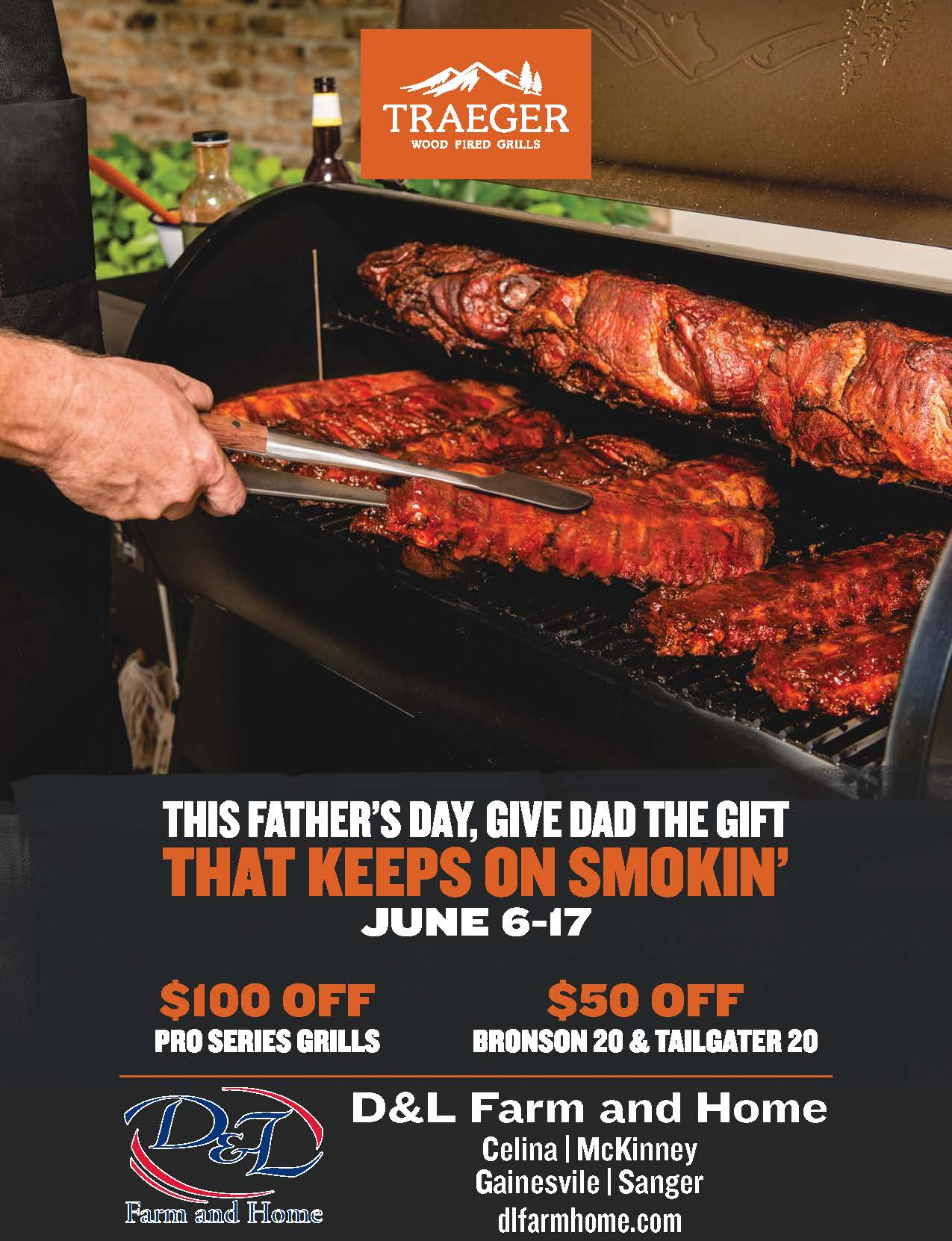 traeger grills fathers day special